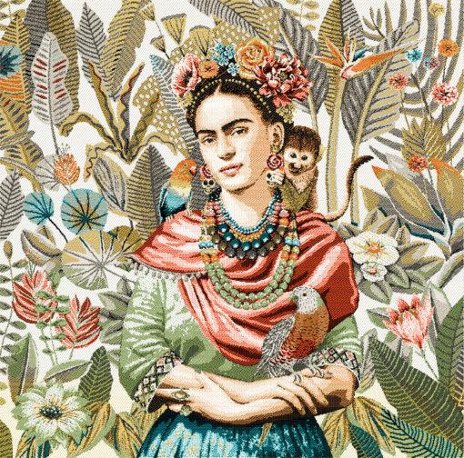 stofpanelen Frida Carmen Lin jacquardstof