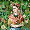 stofpanelen Frida Carmen Vert jacquardstof