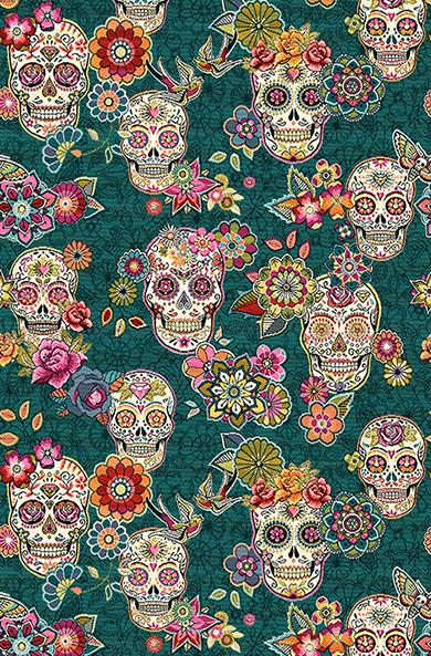 jacquardstof Cristobal Canard schedels interieurstof gordijnstof decoratiestof meubelstof skulls