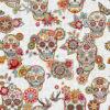 jacquardstof Cristobal Blanc schedels interieurstof gordijnstof decoratiestof meubelstof