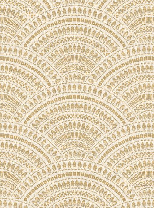 jacquardstof tympan or blanc gordijnstof meubelstof stof met bogen