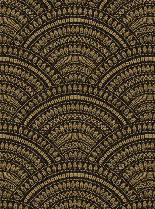 jacquardstof tympan or noir gordijnstof meubelstof stof met bogen