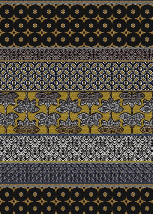 jacquardstof Doha Or meubelstof gordijnstof decoratiestof interieurstof stof met verschillende banen Arabische stof
