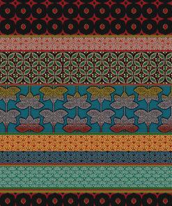 jacquardstof Doha Rouge meubelstof gordijnstof decoratiestof interieurstof met Oosterse ornamenten
