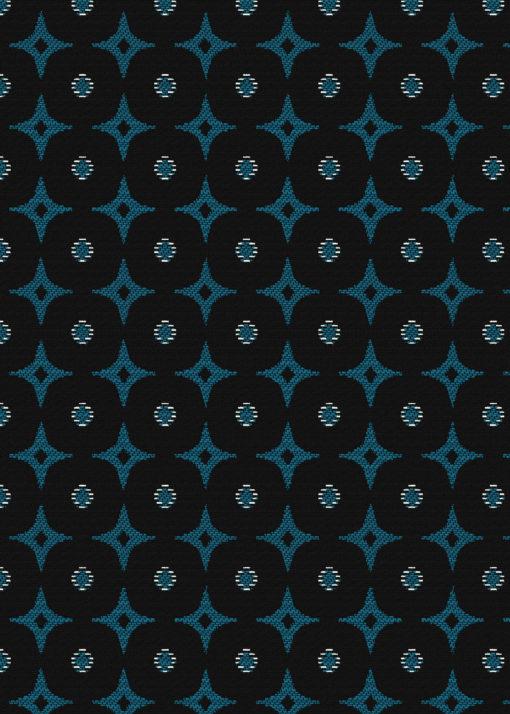 jacquardstof Omar Bleu meubelstof gordijnstof decoratiestof interieurstof Arabische stof