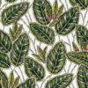 jacquardstof Eldorado blanc vert meubelstof gordijnstof decoratiestof interieurstof jacquardstof met bladmotief