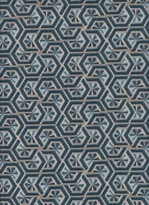 jacquardstof Elli Bleu meubelstof gordijnstof decoratiestof interieurstof