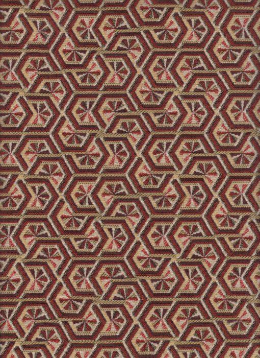 jacquardstof Elli Rouge meubelstof gordijnstof decoratiestof interieurstof