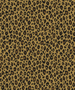 katoenprint Fauve Savane katoenen printstof panterprint decoratiestof