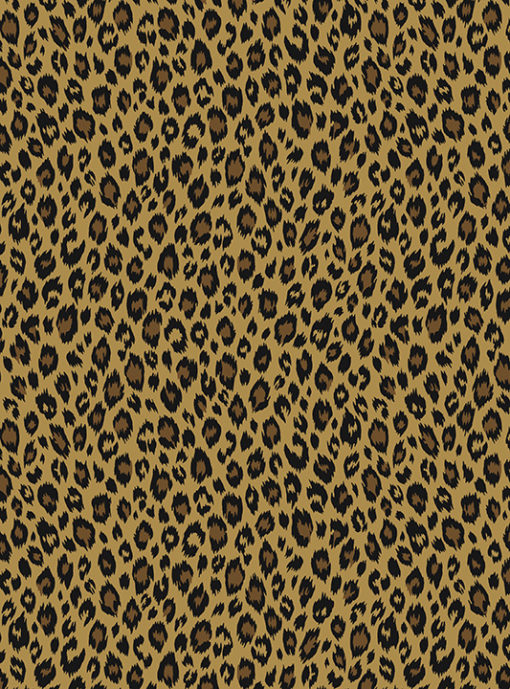 pantermotief katoenprint Fauve Savane katoenen printstof panterprint decoratiestof