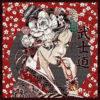 stofpanelen geisha rouge jacquardstof