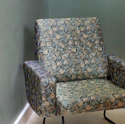 jacquardstof Gamma Kaki meubelstof gordijnstof interieurstof decoratiestof
