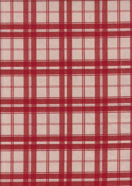 rode dubbeldoek ruitstof gordijnstof decoratiestof