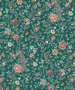 jacquardstof Siam Safran meubelstof gordijnstof decoratiestof interieurstof stof met bloemen