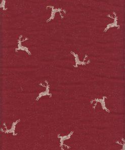 rode dubbeldoek kerststof gordijnstof decoratiestof