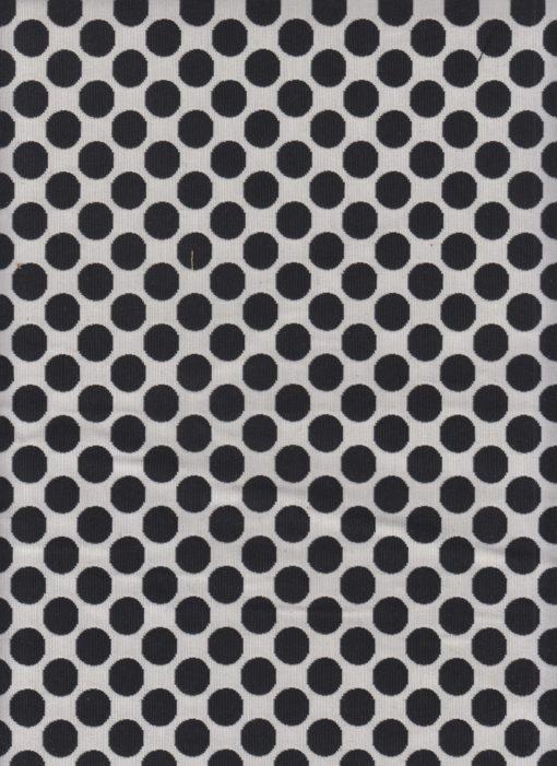 dubbeldoek zwartwit stof met dots gordijnstof decoratiestof