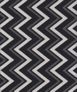 zigzagstof dubbeldoek zwartwit gordijnstof decoratiestof