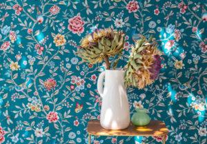 jacquardstof Siam voorbeeld 2 stof met bloemen