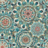 jacquardstof Splendid Blue stof met mandala decoratiestof gordijnstof meubelstof