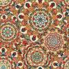 jacquardstof Splendid Red stof met mandala decoratiestof gordijnstof meubelstof