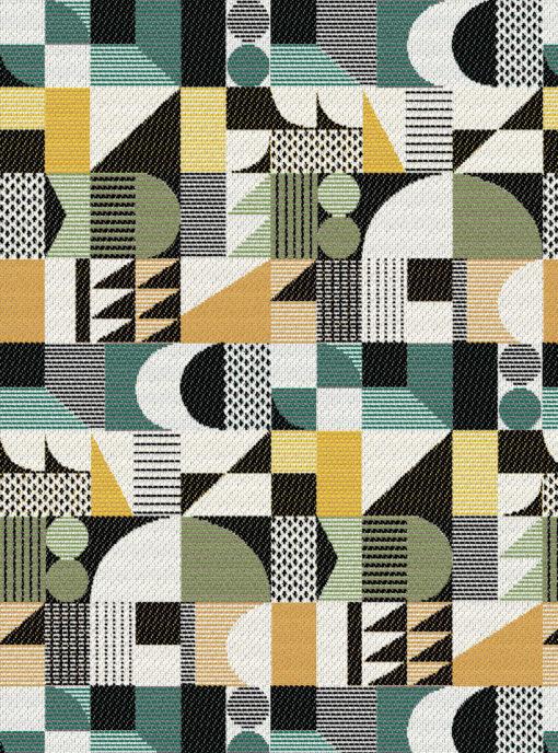Jacquard stof Walter Vert retro meubelstof gordijnstof decoratiestof