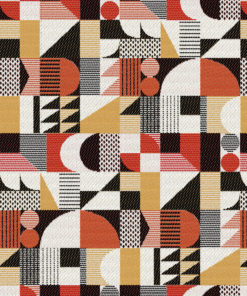 Jacquard stof Walter Rouge retro meubelstof gordijnstof decoratiestof