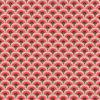 percale katoenprint Wazabi Rouge katoenen decoratiestof pauwenveren mondkapjes