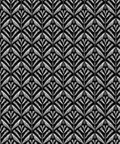 Jacquard stof Zephyr Black retro meubelstof gordijnstof decoratiestof