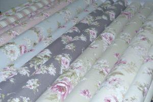 ottoman stof met rozen