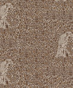 linnenlook All Leopard stof met luipaarden decoratiestof 1.104530.1838.190