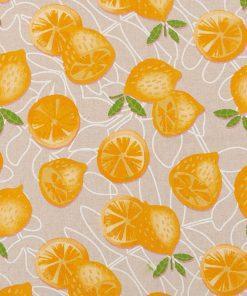 linnenlook Lemon Allover stof met citroenen decoratiestof 1.104530.1846.230